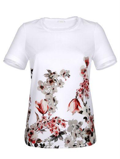 Alba Moda Shirt mit wunderschönen Blüten