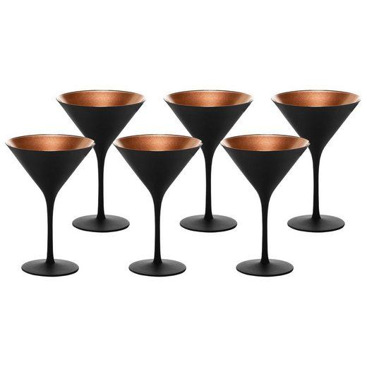 Stölzle Gläser-Set »ELEMENTS Cocktailschale Schwarz-Bronze 6er Set« (6-tlg)