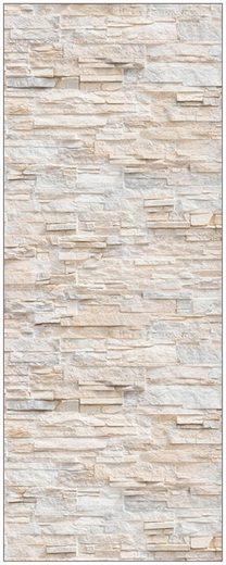 MySpotti Spritzschutz »fresh F1 Bruchsteinwand Beige«, 100 x 255 cm