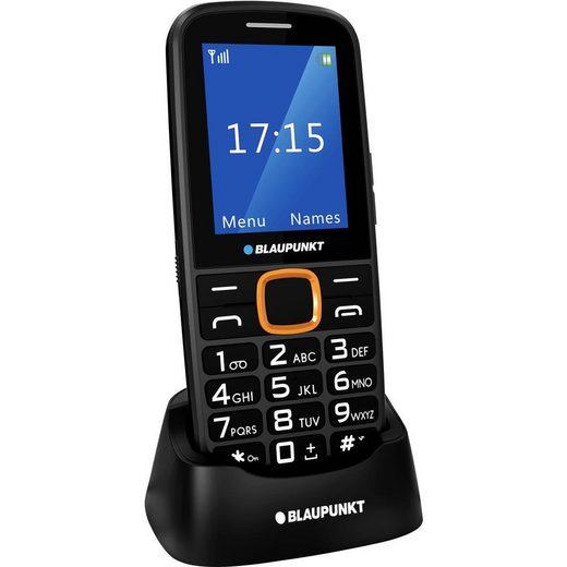 Blaupunkt Blaupunkt BS04 Senioren-Handy mit Ladestation, SOS Taste Schwarz, Orange Seniorenhandy