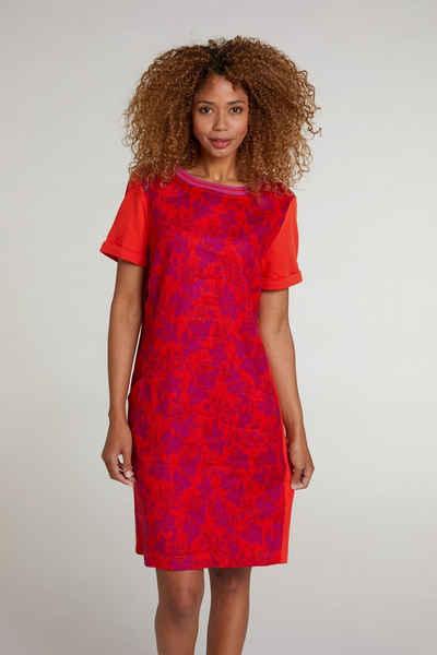 Oui Sommerkleid »Kleid im Leinenpatch«