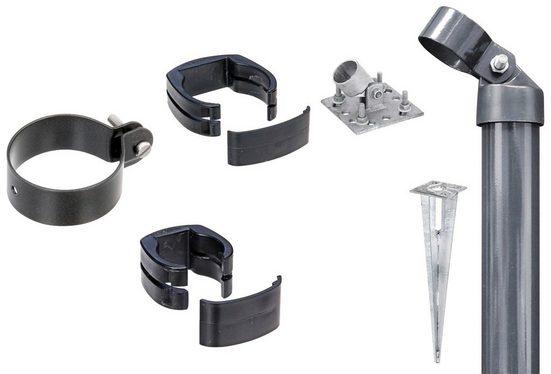 GAH Alberts Zaunpfosten »Verbinder Fix-Clip Pro®«, (Set), 2-seitig für Ø 6x122 cm, zum Aufschrauben