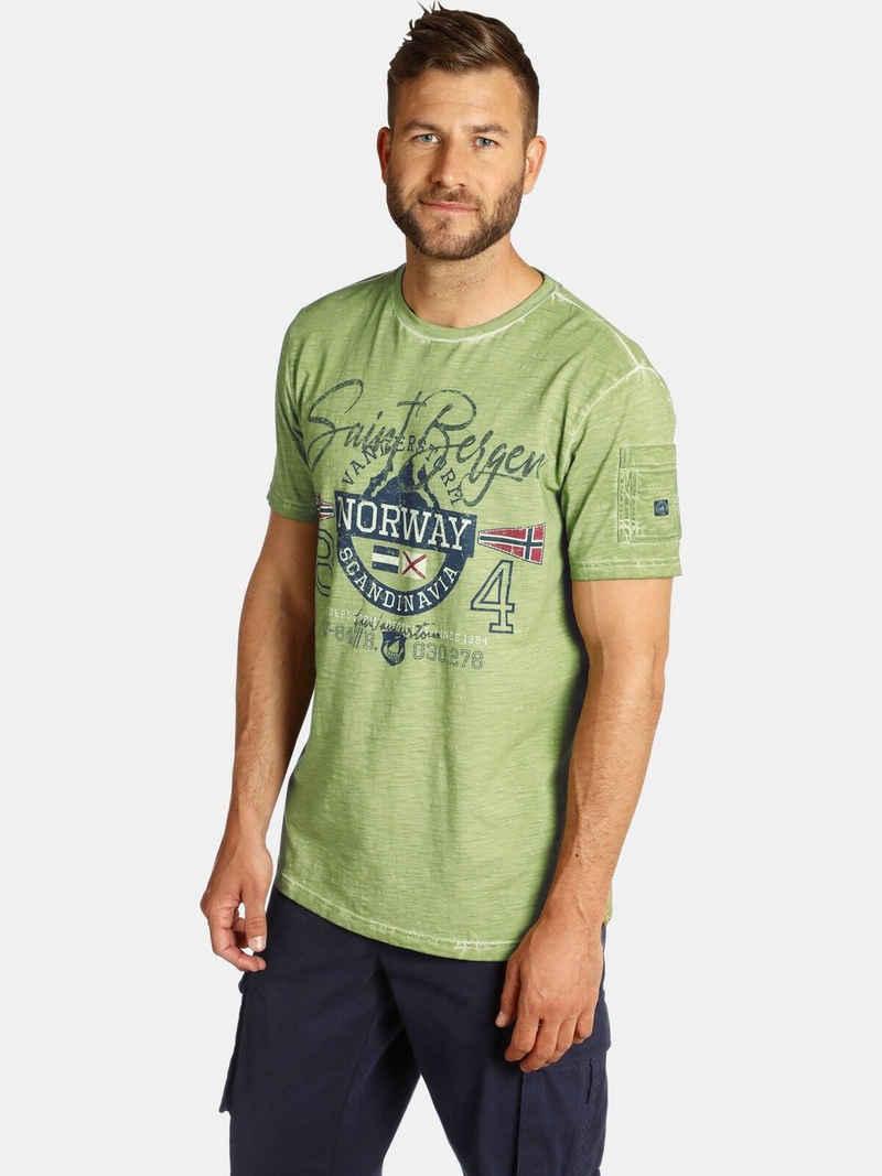 Jan Vanderstorm T-Shirt »HELGO« jedes Shirt ist ein Unikat