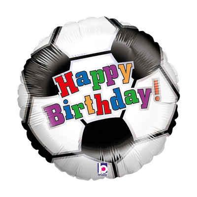 Karaloon Folienballon »Figuren-Folienballon Happy Birthday Fußball«