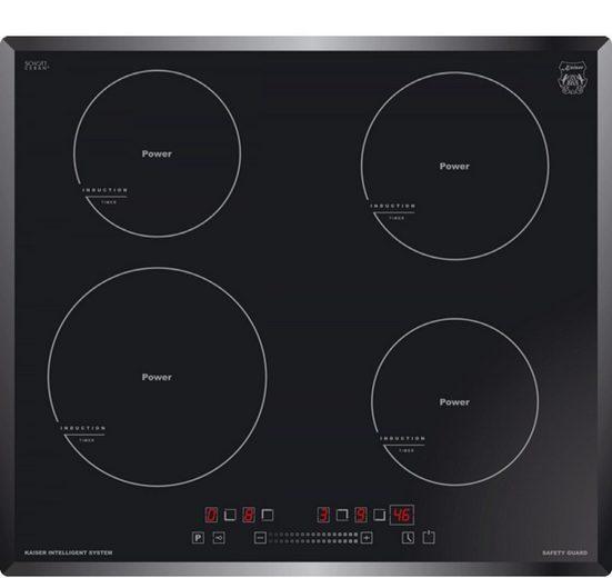 Kaiser Küchengeräte Induktions-Kochfeld KCT 6705 FI, 4 Kochzonen, Einbau Herd, Power Booster, Full Touch Control, Autark