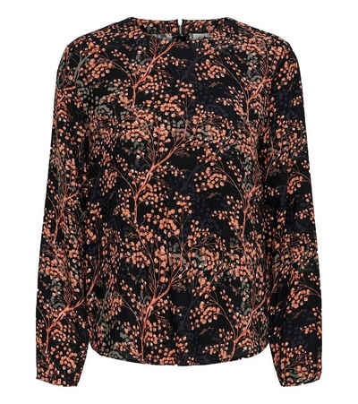 JACQUELINE de YONG Blusentop »JACQUELINE de YONG Trista Blusen-Shirt auffällige Damen Tunika-Bluse mit Alloverprint Herbst-Shirt Schwarz«