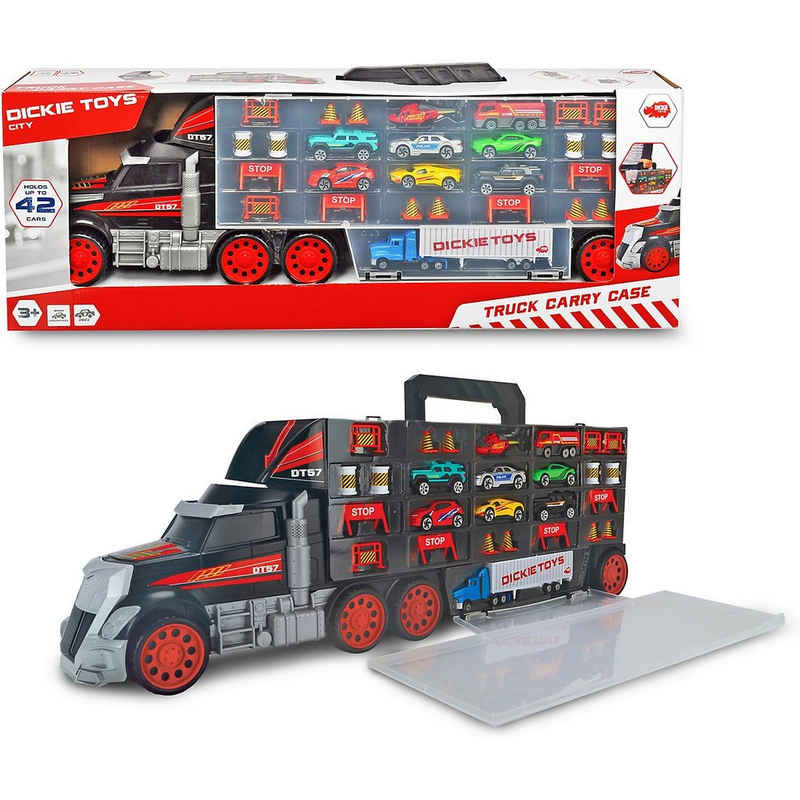 Dickie Toys Spielzeug-Auto »Riesen-Truck mit Spielzeugautos & Zubehör, tragbar«