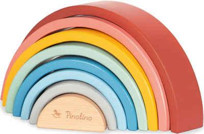 Pinolino® Stapelspielzeug »Holz-Regenbogen Ruby«, (8-tlg), Made in Europe, FSC®-Holz aus gewissenhaft bewirtschafteten Wäldern