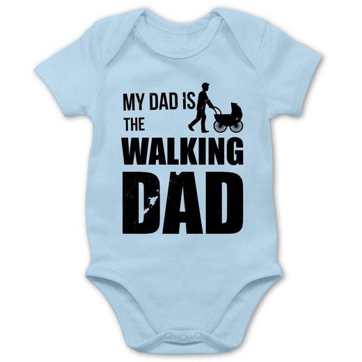 Shirtracer Shirtbody »My Dad is the Walking Dad - Baby Body Kurzarm - Strampler & Bodies« Sprüche Baby