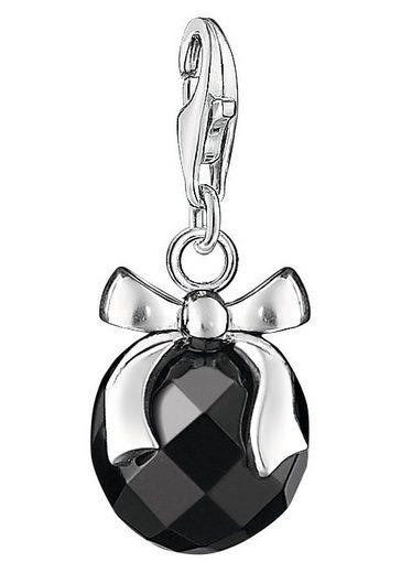 THOMAS SABO Charm-Einhänger »Stein mit Schleife, 0868-023-11«, mit Obsidian