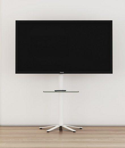 VCM »TV Standfuß Alu Xila mit Glas Zwischenboden« TV-Ständer