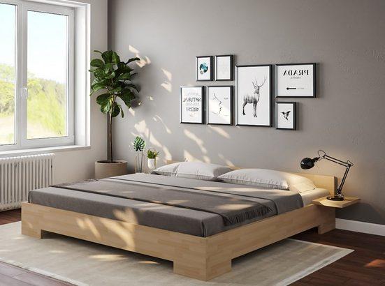 bv-vertrieb Bett »Doppelbett Echtholz Buche«, Holzbett Massivholz Buche 140x200cm Liegefläche - (3048)
