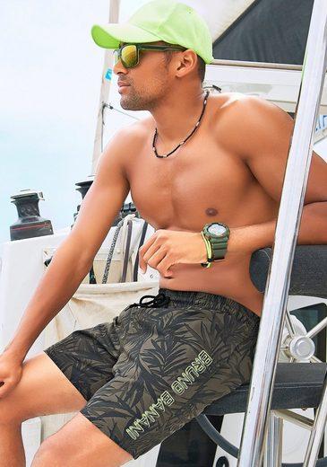 Bruno Banani Badeshorts, mit karibischem Druck