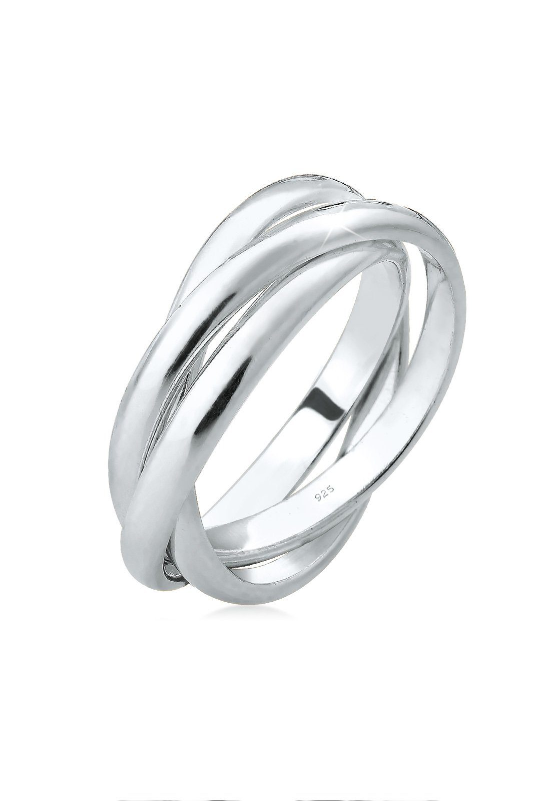 Elli Fingerring »Wickelring Trio Trini Basic 925 Silber«, Wickelring online kaufen | OTTO