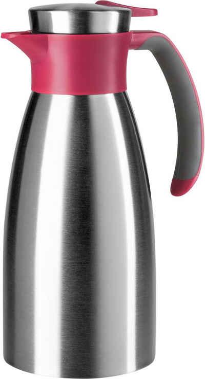 Emsa Isolierkanne »Soft Grip«, 1 l, hält 12 Stunden heiß und 24 Stunden kalt, 100 % dicht, 1 Liter