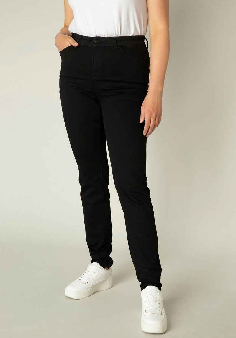 Base Level Curvy Slim-fit-Jeans »Joya« Mid-Rise Jeans in mittlerer Taillenhöhe