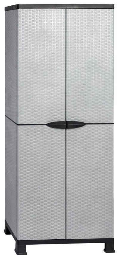 Kreher Mehrzweckschrank »Madera« B/T/H: 68x40x171 cm, 3 Einlegeböden, Kunststoff