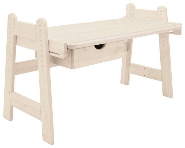 Kindertische - BioKinder Das gesunde Kinderzimmer Kinderschreibtisch »Leon«, 120x70 cm, höhenverstellbar von 50 75 cm mit Schublade  - Onlineshop OTTO