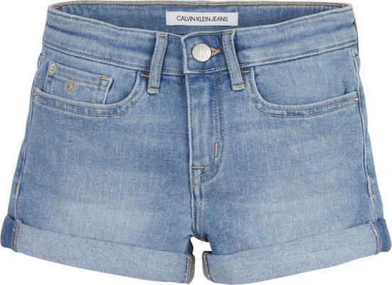 Calvin Klein Jeans Jeansshorts mit kleinem Aufschlag am Saum