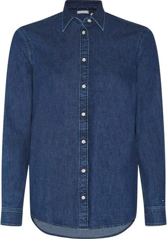 TOMMY HILFIGER Jeansbluse »RELAXED LS SHIRT MAO« su -...