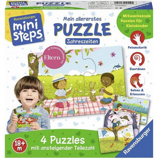 Ravensburger Puzzle »ministeps® Mein allererstes Puzzle: Jahreszeiten«, Puzzleteile