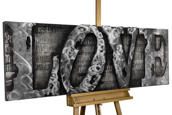 KUNSTLOFT Metallbild »More than Letters«, handgefertiges Wandrelief 3D