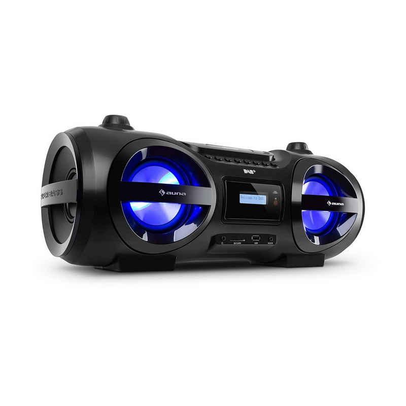 Auna »Soundblaster DAB Boombox Bluetooth CD/MP3/USB/AUX DAB+/UKW LED 50Wmax.« Boombox (ja, 50 W)