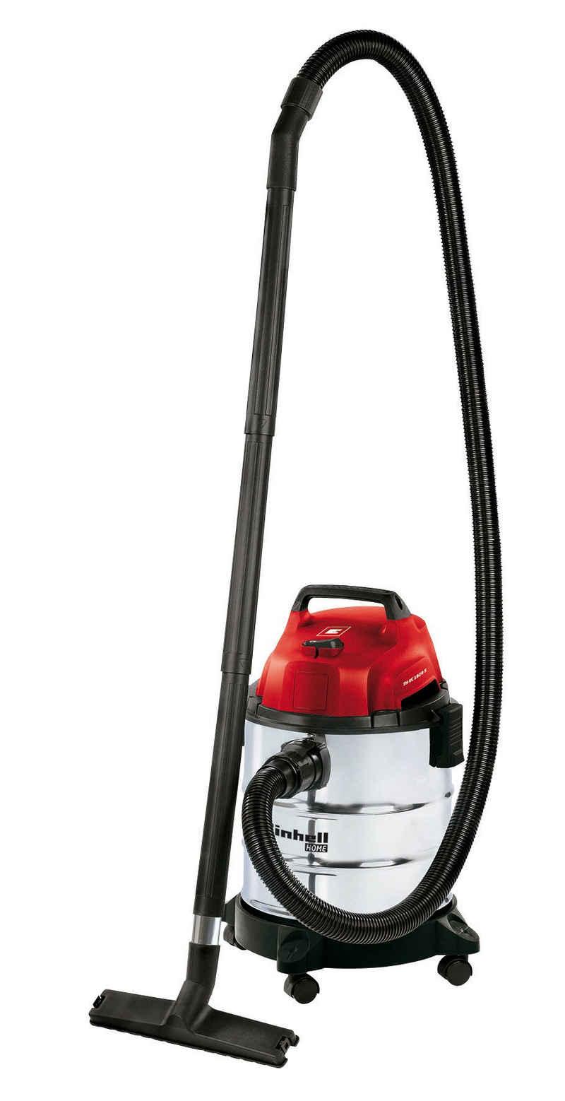 Einhell Nass-Trocken-Sauger TH-VC 1820 S, 1250 Watt, 4 Lenkrollen Zubehörhalterung Kabelhalterung Blasanschluss