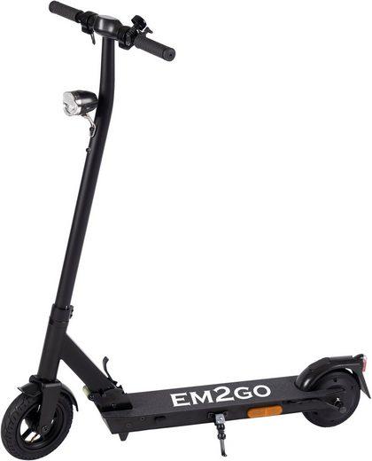 D-Parts EM2GO E-Scooter »EM2GO E-Scooter FW103ST mit Straßenzulassung, 4.4 Ah Akku«, 250 W, (mit Schutzblechen)
