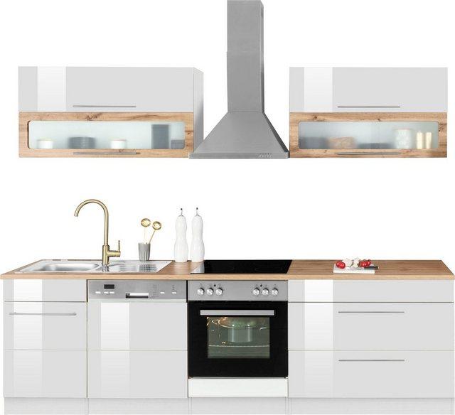 Einbauküchen - HELD MÖBEL Küchenzeile »Wien«, mit E Geräten, Breite 270 cm  - Onlineshop OTTO