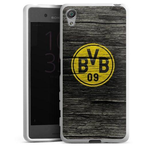 DeinDesign Handyhülle »BVB Holzoptik« Sony Xperia X, Hülle Borussia Dortmund BVB Holzoptik