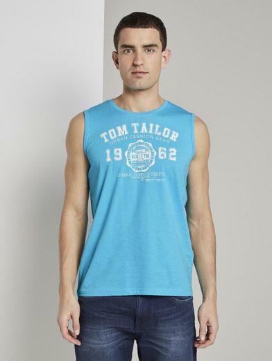 TOM TAILOR Kurzarmshirt »Top mit Logo-Print«