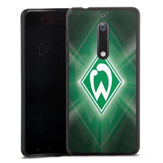 DeinDesign Handyhülle »Werder Bremen Laser« Nokia 5, Hülle SV Werder Bremen Offizielles Lizenzprodukt Wappen