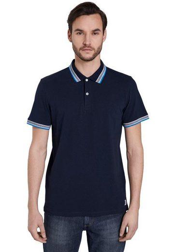 TOM TAILOR Poloshirt hochwertige Piqué-Qualität