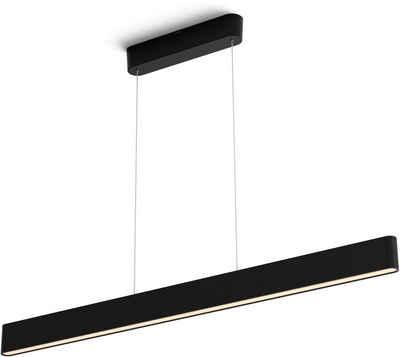 Philips Hue LED Pendelleuchte »Ensis«, Hängeleuchte, Hue Pendelleuchte mit 2 integrierten LED-Strips, Smarte Lichtsteuerung per Bluetooth oder Hue Bridge, Auswahl aus 16 Mio. Farben, Light Duo-Effekt, dimmbar