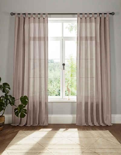 Vorhang »Elbsegel 1«, elbgestoeber, Schlaufen (1 Stück), transparent, basic, monochrom, bis 295 cm Länge