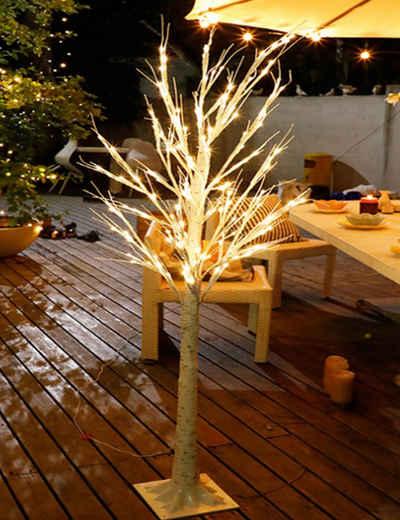 RAIKOU LED Baum »Lichterbaum, warm-weiße LEDs in elegantes Birkenmuster, LED-Lichterbaum«, warm-weiße LED