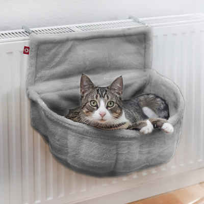 Canadian Cat Company Katzen-Hängematte »Der Katzenkuschelsack - grau«, zur Befestigung am Heizkörper