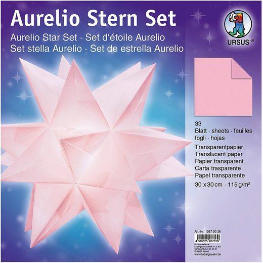URSUS Papierdekoration »Faltblätter Aurelio Stern Transparent,rosa,30x30cm«