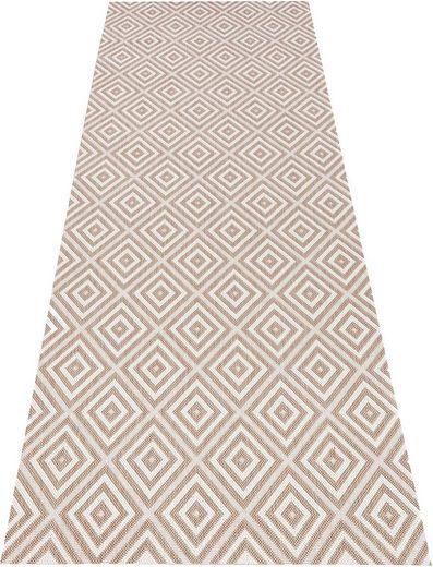 Läufer »Karo«, bougari, rechteckig, Höhe 8 mm, Flachgewebe, In- und Outdoor geeignet, Geometrisches-Design, Für Terasse und Balkon, Wohnzimmer