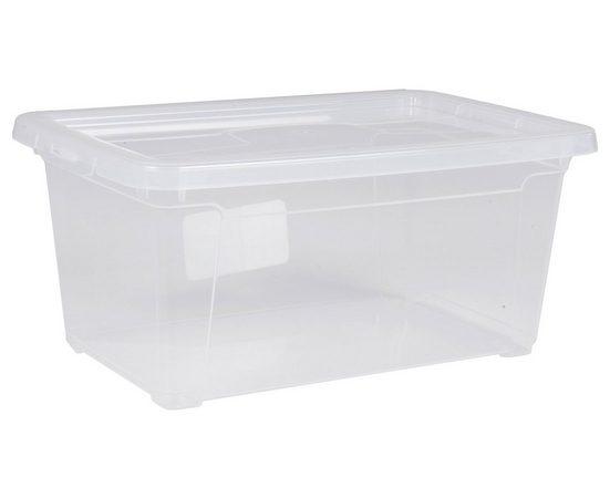 ONDIS24 Aufbewahrungsbox »Aufbewahrungsbox Utensilienbox Nähbox Schuhbox Lagerbox Allzweckbox Easy XS mit Deckel, stapelbar«