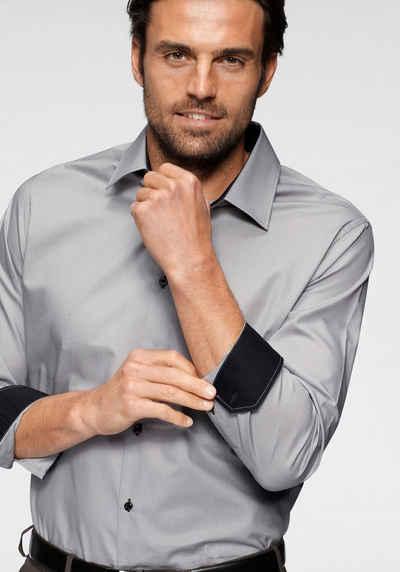 Bruno Banani Businesshemd Kontrastbesatz