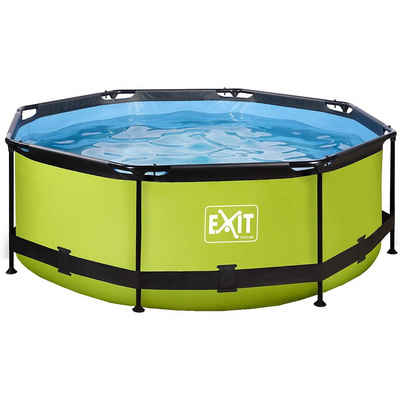 EXIT Planschbecken »EXIT Lime Pool ø244x76cm mit Filterpumpe - grün«