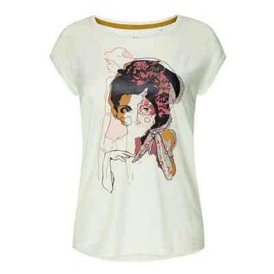 Jockey Pyjamaoberteil »Crossroads Schlafanzug Shirt kurzarm« Farbenfroher Aufdruck, Lockere Passform, Weiches Material
