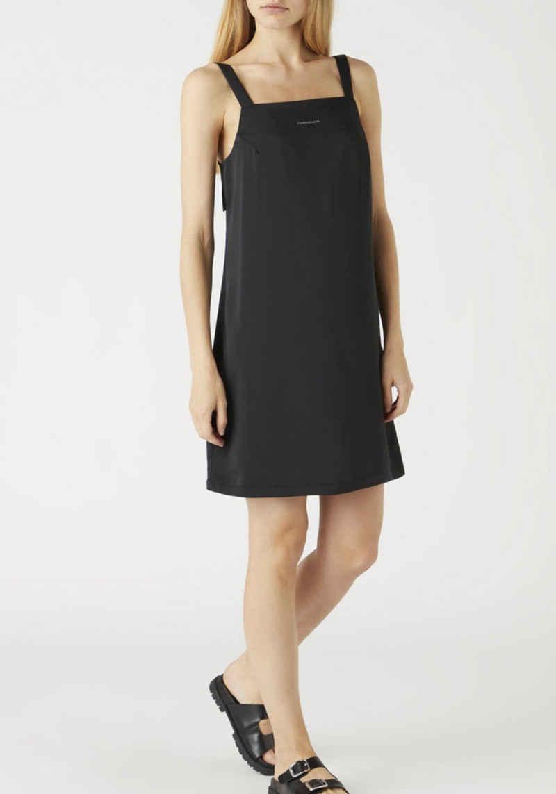 Calvin Klein Jeans Trägerkleid »Wide Straps Satin Dress« mit eckigem Ausschnitt & schmalen Trägern