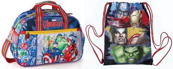 The AVENGERS Sporttasche »Marvel´s The Avengers - Sporttasche und Turnbeutel« (Reißverschluss, Jungen), Geringes-Gewicht