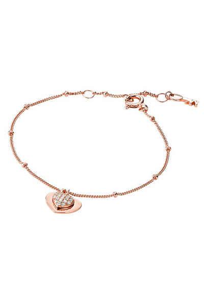 MICHAEL KORS Armband »Herz, PREMIUM, MKC1118AN791«, mit Zirkonia