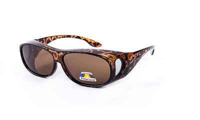 Figuretta Sonnenbrille »Figuretta Sonnenbrille Überbrille aus der TV Werbung UV Brille Schutz« hoher UV-Schutz