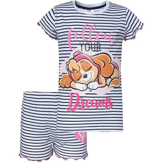 PAW PATROL Schlafanzug »PAW Patrol Schlafanzug für Mädchen«