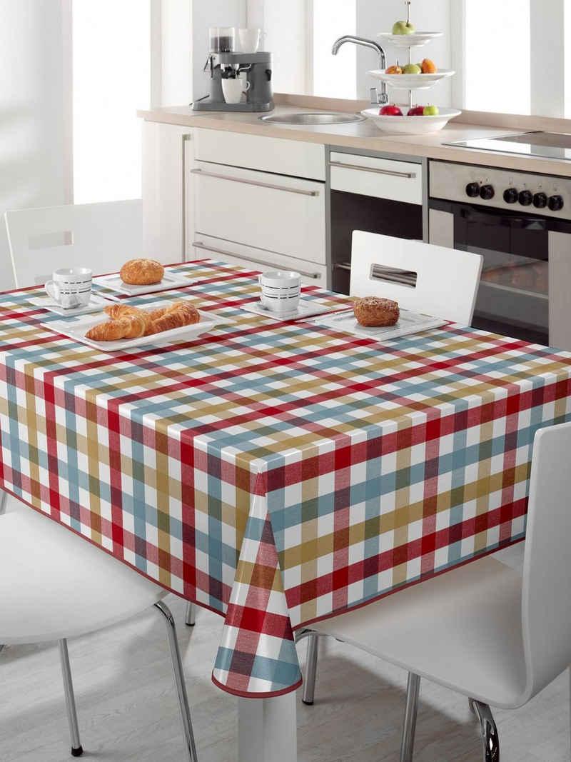 Beautex Tischdecke »Wachstuch Tischdecke abwischbar rutschfest mit Paspelband Eckig Rund, Motiv Farbe Größe wählbar« (1-tlg)